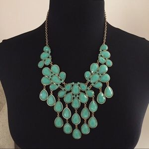 Forever 21 Faux Turquoise Statement Necklace
